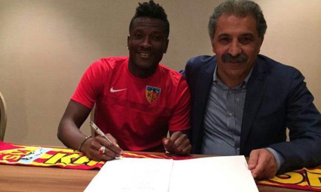 Kayserispor Fans Welcome Gyan In Style