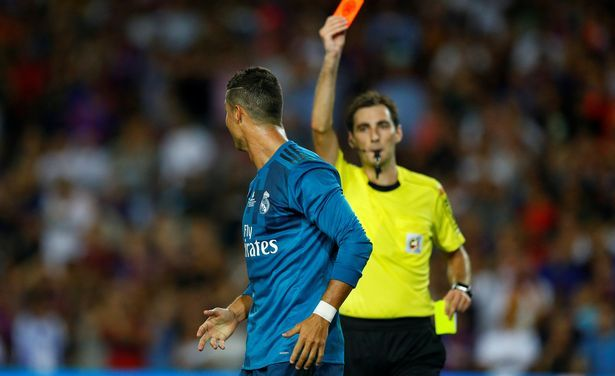 Cristiano Ronaldo Given 5 Match Ban For Shove On Referee