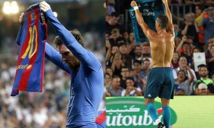 Ronaldo mimics Messi's Bernabeu celebration
