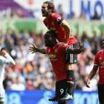 United Thrash Swansea In Late Four Minute Onslaught