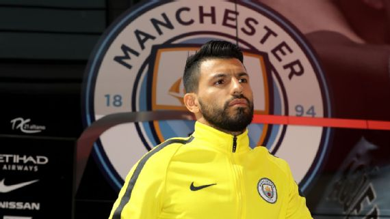 Sergio Aguero returns to Manchester City training following car crash