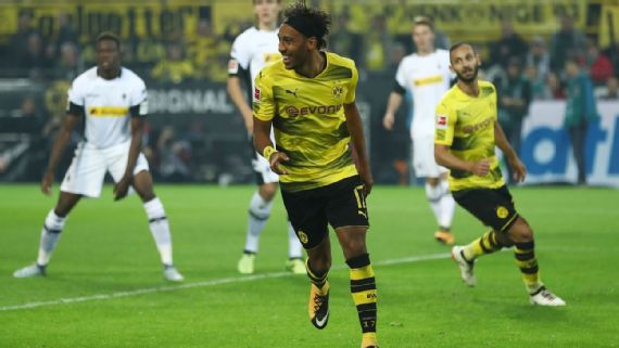 Aubameyang Equals Record For Highest Goals Scored By African In Bundesliga