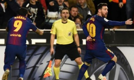 Alba Salvages A Draw For Barca As Messi Is Controversially Denied A Goal