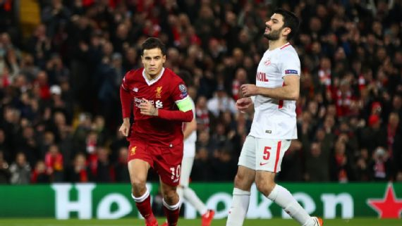 Liverpool Thump Spartak Moscow, Napoli Fail To Qualify As City Lose For First Time