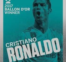 Ronaldo Wins Fifth Ballon Do'r In Eiffel Tower Ceremony