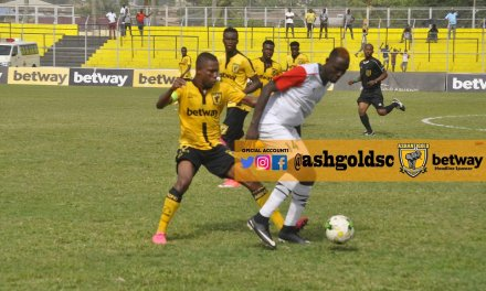 Ghana Premier league: Ashanti Gold held by Bechem in 1-1 draw