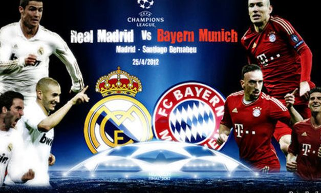 LIVE STREAM: BAYERN MUNICH VS REAL MADRID(UCL SEMIFINAL FIRST LEG)