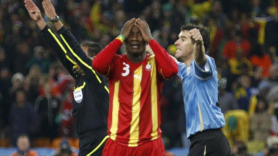 Asamoah Gyan Left Dejected after penalty miss