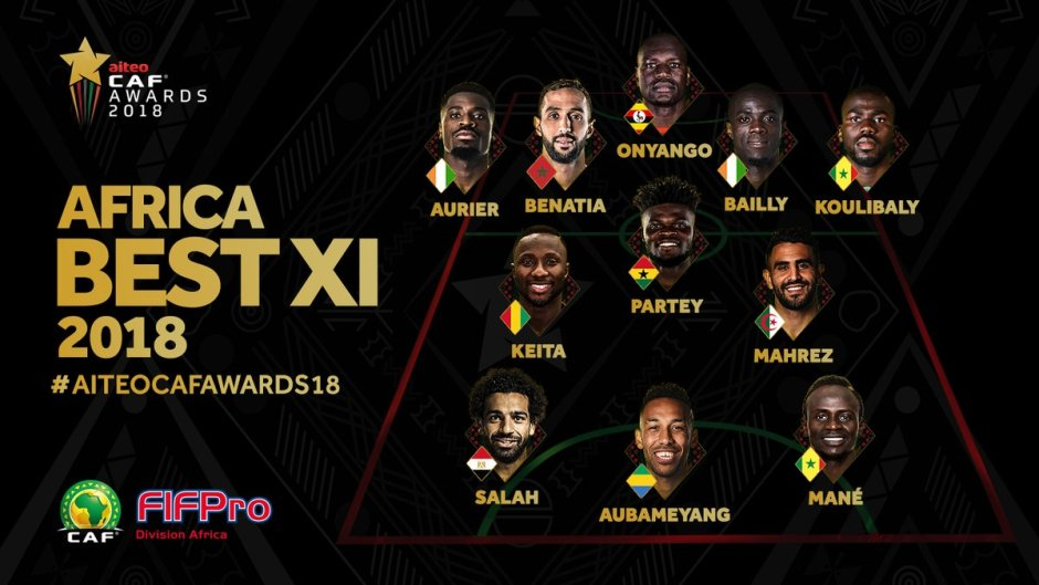 FULL LIST Of Winners in the 2018 CAF Awards