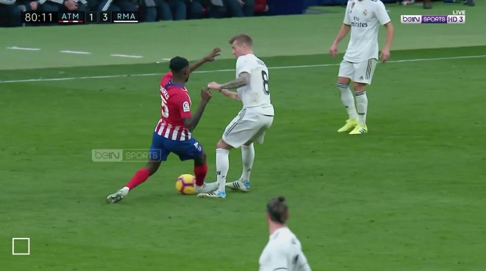 Thomas Partey sees red as Real Madrid win derby