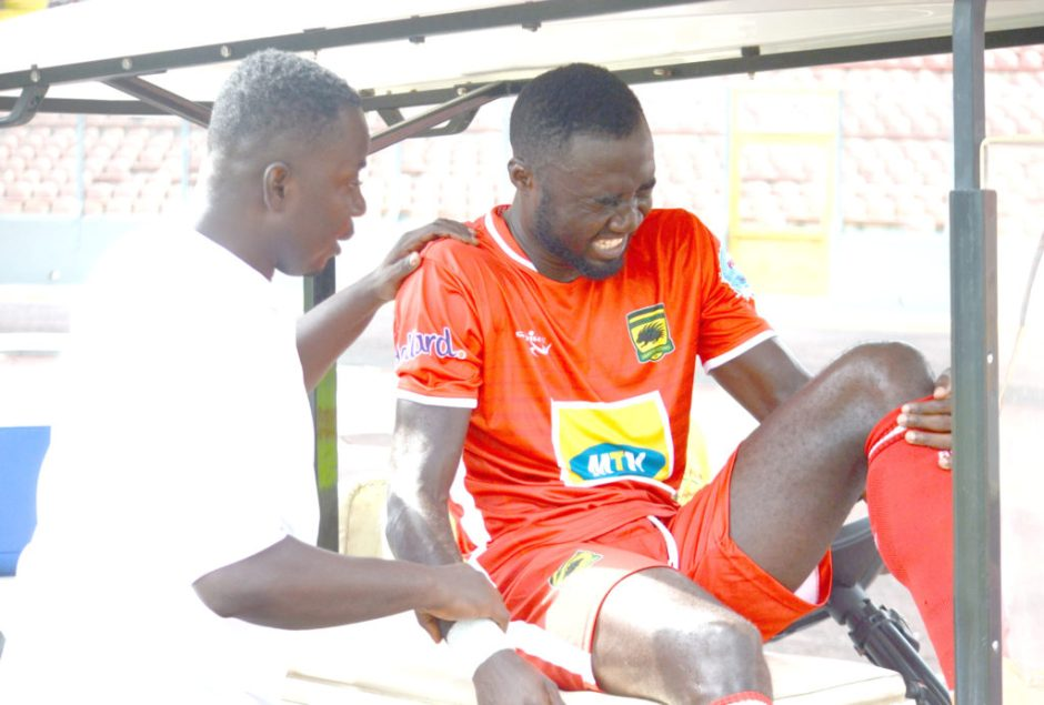 Asante Kotoko striker Dany Zabo out for six weeks