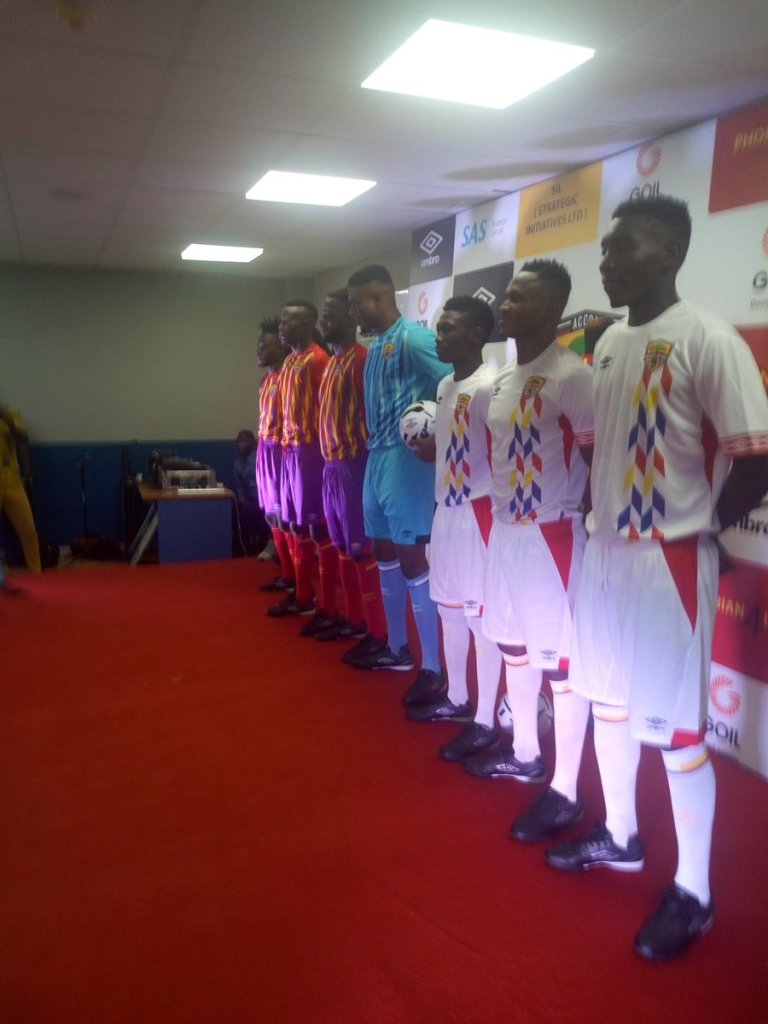 Pictures: Hearts of Oak unveil their new Umbro kits
