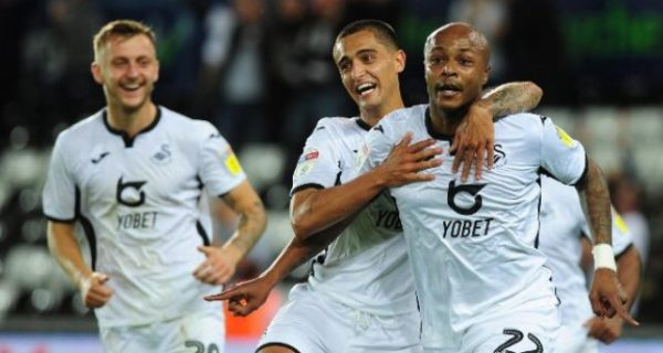 Andre Ayew earns praise from Swansea boss after brace