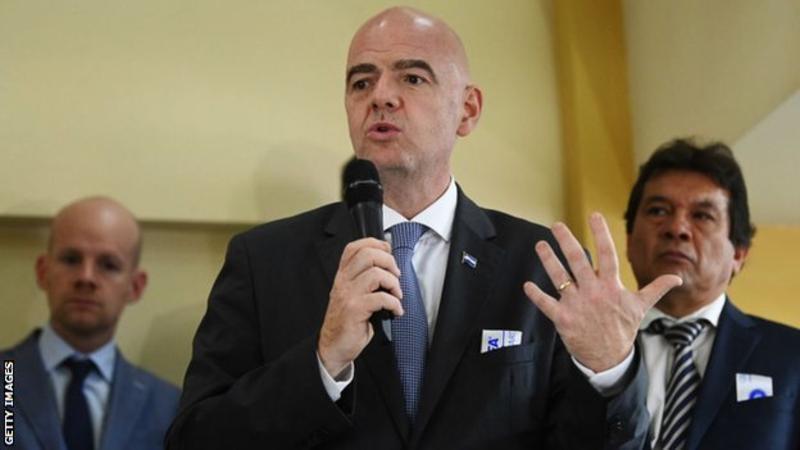 Fifa President Infantino announces plan to raise $1bn for Africa