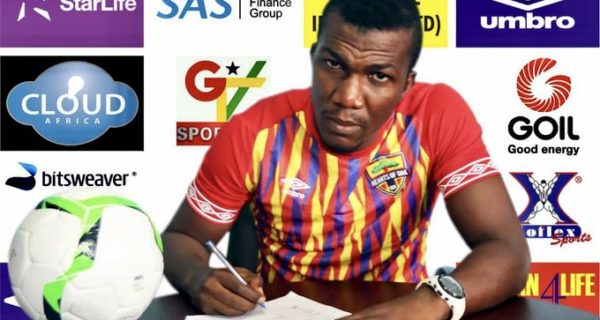 OFFICIAL: Hearts of Oak unveil forward Abednego Tetteh