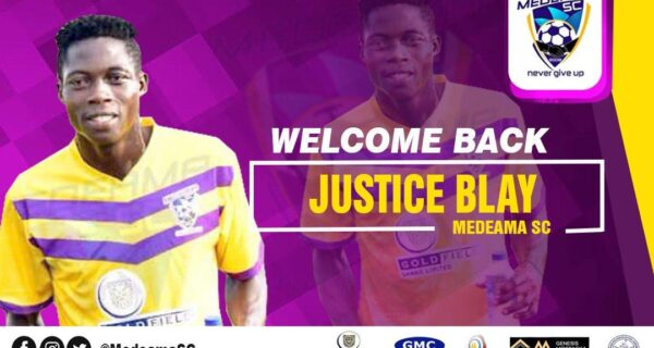 Justice Blay returns to Medeama after Kotoko loan