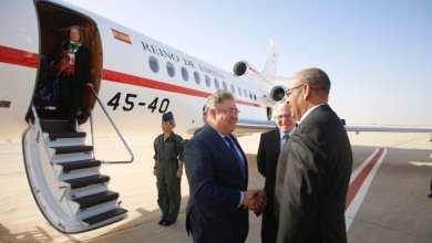وزير الداخلية الموريتاني يستقبل نظيره الاسباني فبراير الماضي - أرشيف