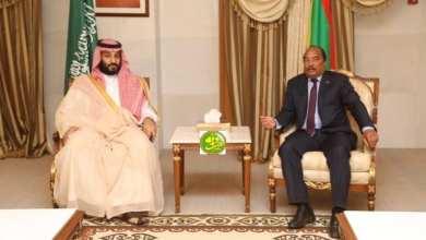Photo of مباحثات بين الرئيس الموريتاني وولي العهد السعودي