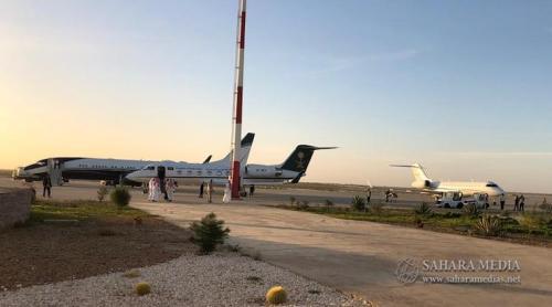 طائرات الوفد السعودي في مدرج مطار نواكشوط الدولي (صحراء ميديا)