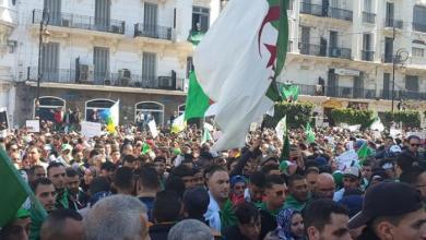 خروج المتظاهرين في الجزائر العاصمة ( فيسبوك)