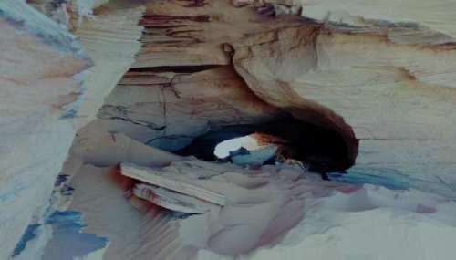 الكهف الذي كانت الأسلحة مخبأة بداخله (G5 Sahel)