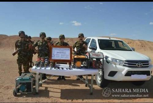 دورية الجيش الجزائري التي اعتقلت المنقبين