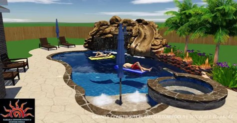 Custom 3D Pool Designs | Sahara Custom Pools | Katy, TX
