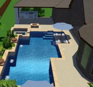 Sahara Custom Pools | Katy, Texas | 3D Pool Design