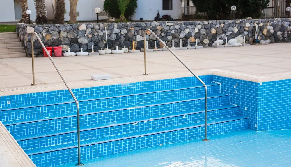Katy TX empty swimming pool