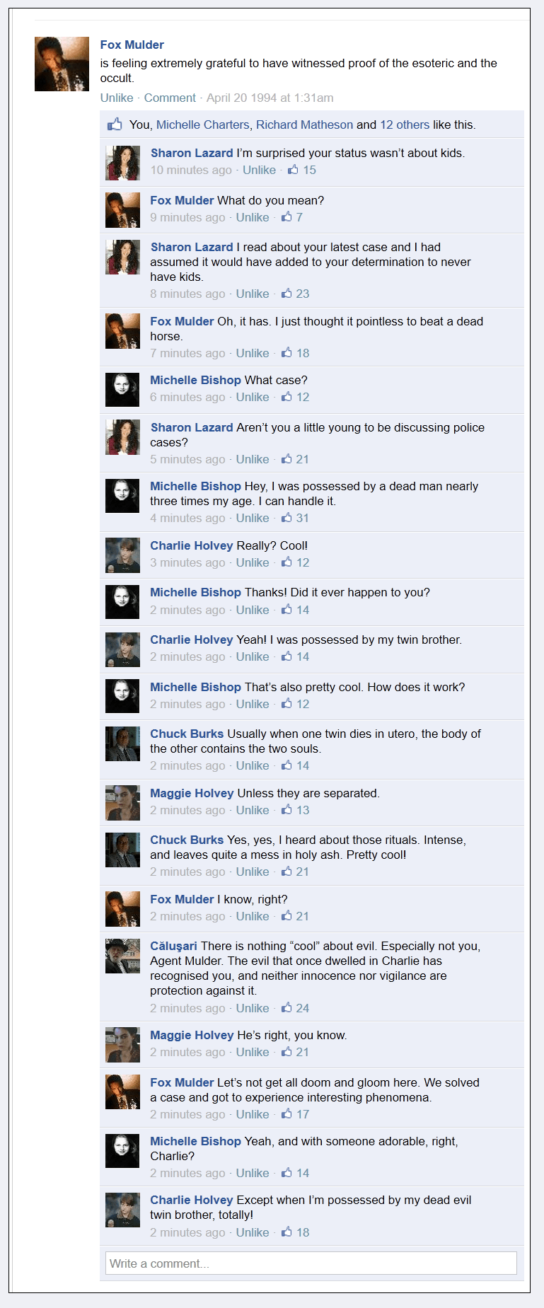 The X-Files Facebook Project on Sahar's Blog s02e21 The Calusari
