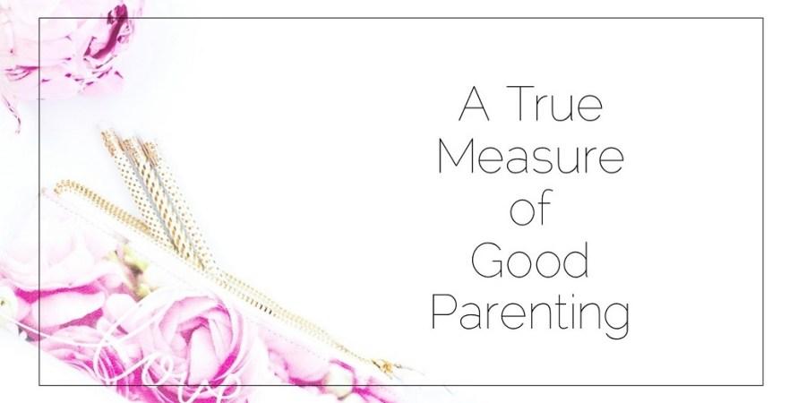 Sahar's Blog 2017 05 26 The true measure of good parenting Header