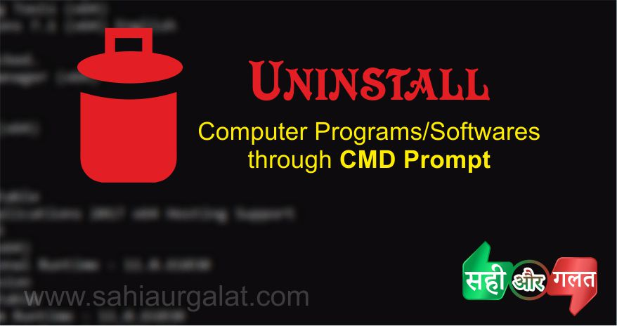 Uninstall through CMD Prompt photo