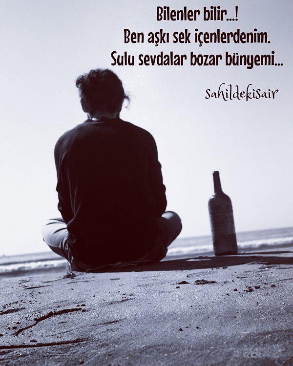 Bilenler bilir..! Ben aşkı sek içenlerdenim. Sulu sevdalar bozar bünyemi... #sahildekisair #sinanyıldızlı #sarhoş #siirsokakta #kitap #sevda#aşk #edebiyat