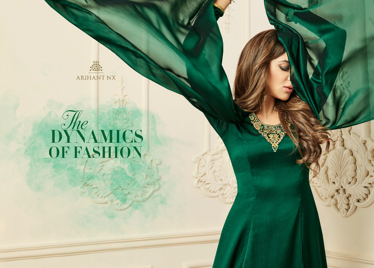 02e73d1adf SILKY TOUCH ARIHANT NX DESIGNER HEAVY FANCY FABRIC PARTY WEAR KURTIS  BEAUTIFUL COLLECTION WITH SATIN SILK CRAPE INNER IN WHOLESALE