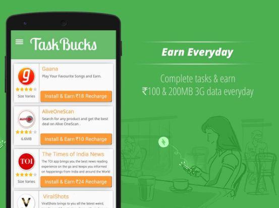 taskbucks mobile app se paisa kaise kamate hai