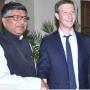 Ravi Shankar Prasad with Mark Zuckerberg