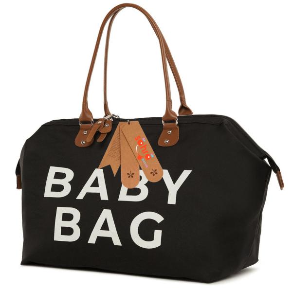 Anne bebek omuz çantası siyah