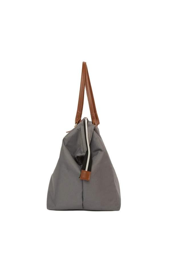 Baby Bag Anne bebek omuz çantası gri