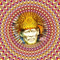 Holographic photo of Sai Baba