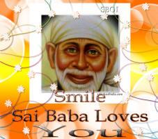 wallpaper -cellphone-android-i phone - sai baba - Smile Sai Baba loves you