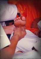 students-touching-swamis-lotus-feet