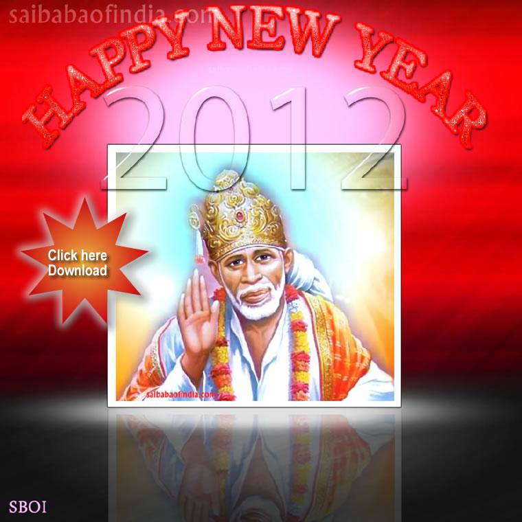 sai baba  u2013 new year greeting cards  u2013 wallpaper  u2013 shirdi