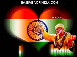 Sai Baba theme independence day greeting cards