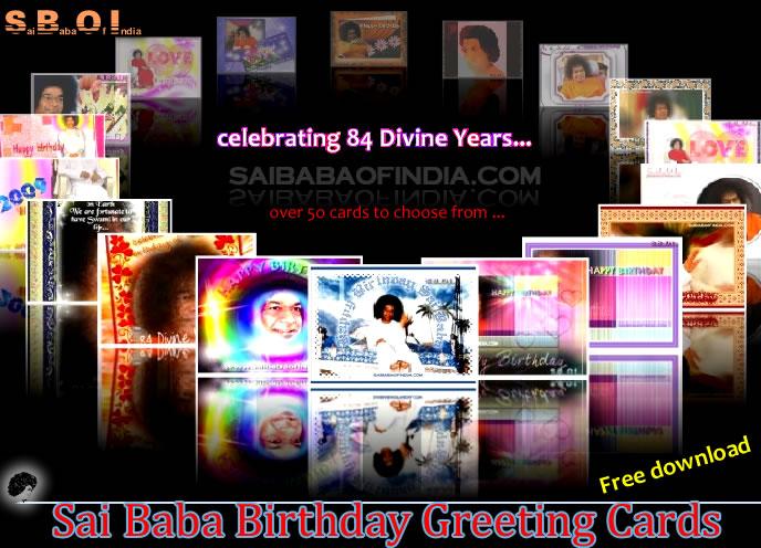 Sri sathya sai baba happy birthday greeting cards over 50 greeting srisathyasaibababirthdayphotoslides happybirthdaygreetings m4hsunfo