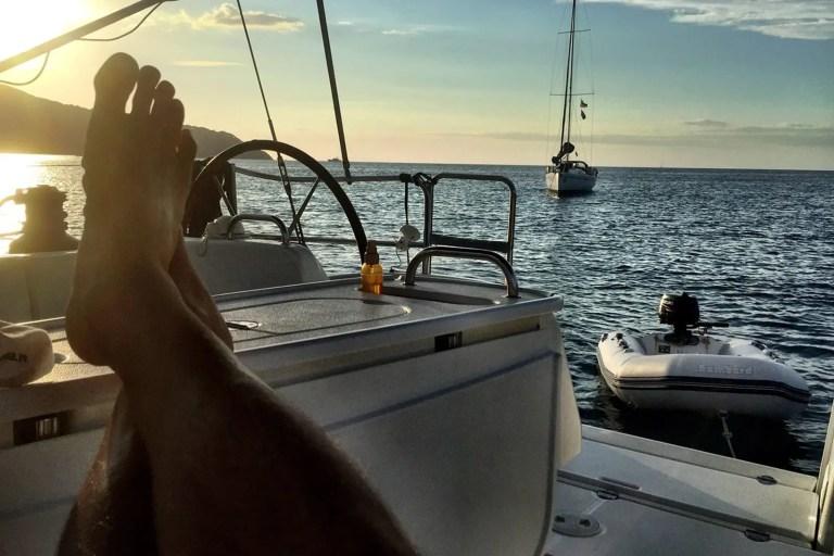 Barca a vela. Roba da fighetti!