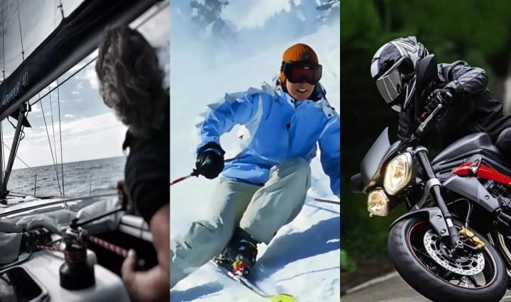 Barca a vela, moto e sci. Cosa hanno in comune?