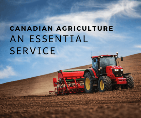 Canadian Agriculture an essential Service in a pandemic