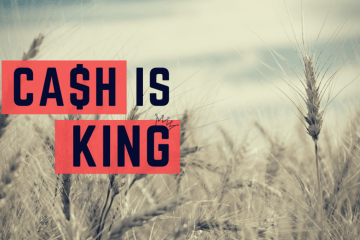 Cash flow is key when it comes to farming, in fact, Cash is King!