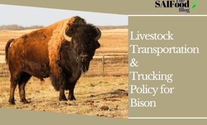 Livestock Transportation & Trucking Policy for Bison