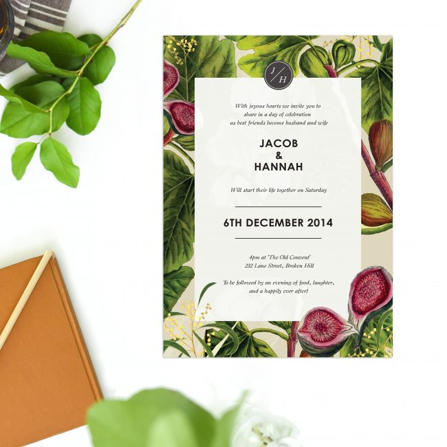 Wedding Invitations Australia Stephanie Jason Bifold